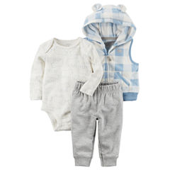 Carter's 3-pc. Gingham Pant Set Baby Boys