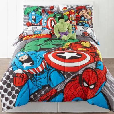 marvel comics avengers twinfull reversible comforter bonus sham