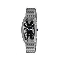 Bertha Laura Womens Swiss Black Dial Silver Tone Bracelet Watch Bthbr3202