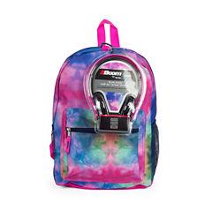 Watercolor Rainbow Backpack with Headphones