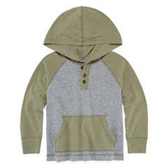 Arizona Boys Hooded Henley T-Shirt