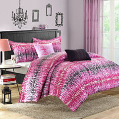 Chic Home Waves Midweight Reversible Comforter Set