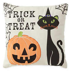 JCPenney Home™ Trick or Treat Cat Square Decorative Pillow