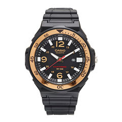 Casio® G-Shock Mens Black and Gold Three Hand Solar Strap Watch MRWS310H-9BV