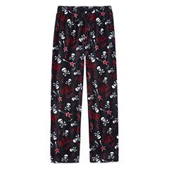 Arizona Microfleece Skull Print Pajama Pants-Boys