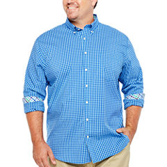 The Foundry Big & Tall Supply Co. Long Sleeve Checked Button-Front Shirt-Big and Tall