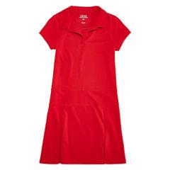 Izod Exclusive Short Sleeve Shirt Dress - Preschool Girls