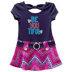 Lilt Sleeveless Drop Waist Dress - Toddler Girls