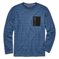Distortion Long Sleeve Henley Shirt -Boys 8-20