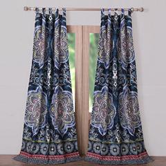 Barefoot Bungalow Twyla (Midnight) Tab-Top Curtain Panel