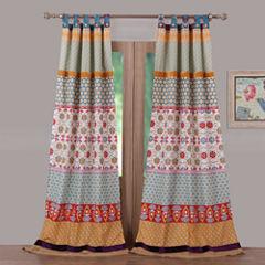 Greenland Home Fashions Thalia 2-Pack Tab-Top Curtain Panel