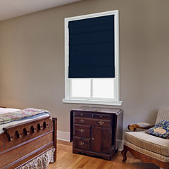 JCPenney Home Cotton Classic Large Fold Custom Cordless Roman Shade