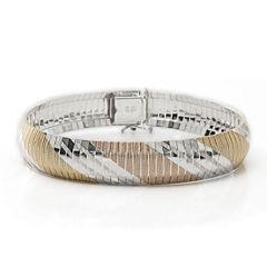 Made in Italy Tri-Tone Flex Bracelet
