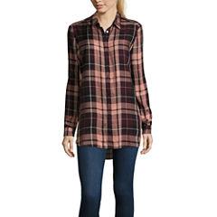 i jeans by Buffalo Plaid Long Sleeve Tunic Top