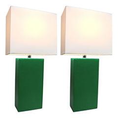 Elegant Designs 2-pc. Lamp Set