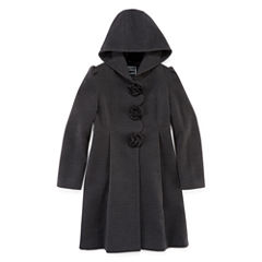 S Rothschild Girls Midweight Peacoat-Preschool
