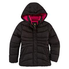 Xersion Heavyweight Pattern Puffer Jacket - Girls-Big Kid