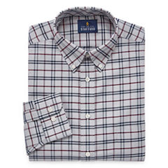 Stafford Travel Wrinkle-Free Oxford Long Sleeve Woven Pattern Dress Shirt Big & Tall