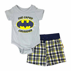 2-pc. Batman Bodysuit Set Newborn Boys