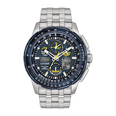 Citizen® Eco-Drive Mens Stainless Steel Blue Angels Skyhawk A-T Bracelet Watch JY8058-50L