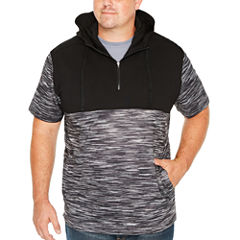 The Foundry Big & Tall Supply Co. Foundry Short Sleeve Fleece Pattern Hoodie-Big and Tall