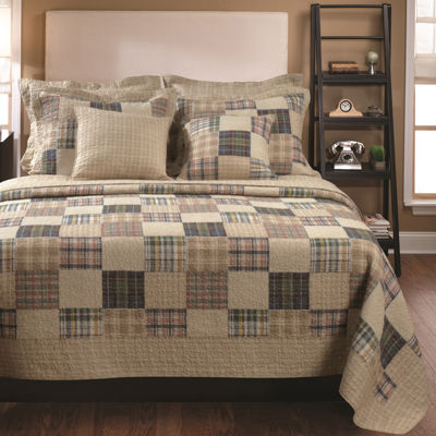 greenland home fashions oxford plaid quilt set - Greenland Home Fashions