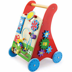 Kids Preferred Windsor Solid Wood Activity Baby Walker