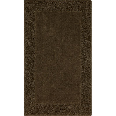 jcpenney home shag border washable rectangular rug - Washable Rugs