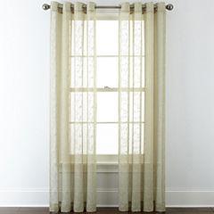 JCPenney Home™ Ingals Grommet-Top Sheer Panel