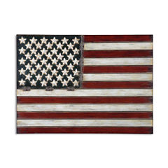 American Flag Metal Wall Decoration