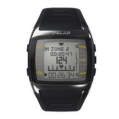 Polar® FT60M Mens Heart-Rate Monitor Chronograph Black Strap Watch