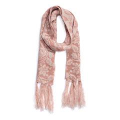 Muk Luks Rose Oblong Floral Cold Weather Scarf
