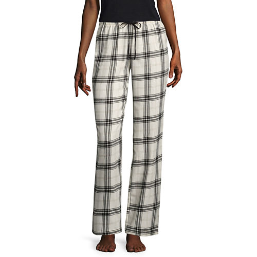 Flirtitude Poplin Geometric Pajama Pants-Juniors