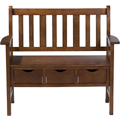 Wright Oak Storage Bench