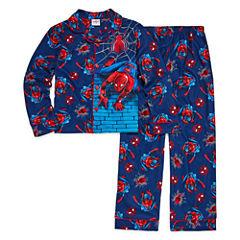 Spiderman Coat Front Pajama Set - Boys 4-20