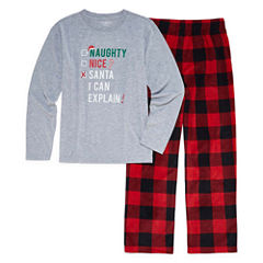 North Pole Trading Co. Checkin' It Twice Flannel Family Pajama Set-Big Boys