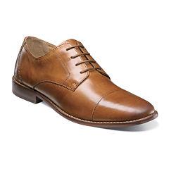 Florsheim® Montinaro Mens Leather Cap-Toe Oxfords
