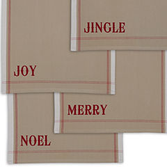 Design Imports Set of 4 Christmas Heavyweight Kitchen Towels