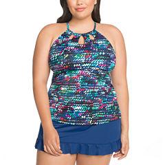 St. John's Bay Tankini Swimsuit Top or Ruffle Hem Skirt -Plus
