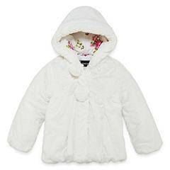 S Rothschild Girls Midweight Teddy Faux Fur Jacket-Preschool