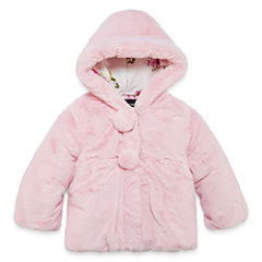 S Rothschild Girls Midweight Teddy Faux Fur Jacket-Preschool