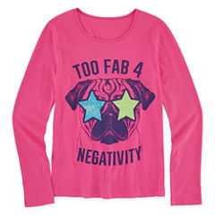 Total Girl Long Sleeve Graphic Tee - Girls' 7-16 and Plus
