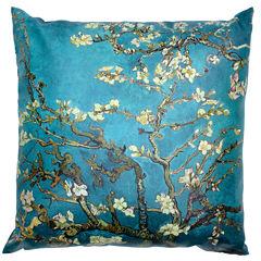 Oriental Furniture Van Gogh Almond Blossoms Throw Pillow