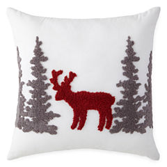Home Expressions Holiday Deer Pillow