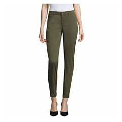 Liz Claiborne Skinny Bf Ankle City Fit Ankle Pants-Talls