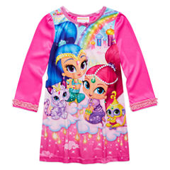 Shimmer and Shine Long-Sleeve Sleep Gown - Girls