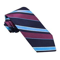 Stafford® Perfectly Plaid Stripe Silk Tie
