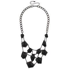 Mixit Black Statement Necklace