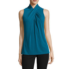 Worthington Sleeveless Knit Blouse-Talls