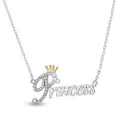 Diamonart Womens 1/3 CT. T.W. White Cubic Zirconia 18K Gold Over Silver Pendant Necklace